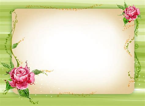 fresh  beautiful green floral border background