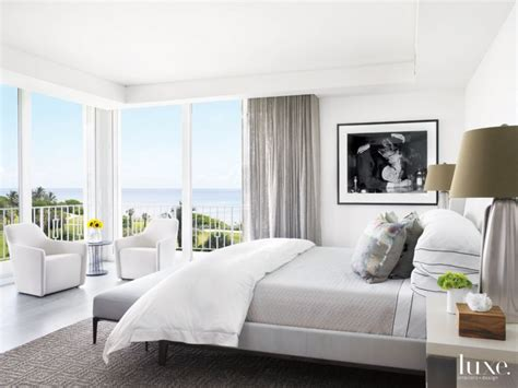 Modern White Bedroom With Black-and-white Photo-luxe
