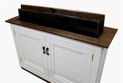 build  tv lift cabinet part  making  top
