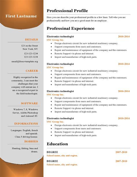 resume templates     cv template