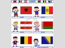 Kids & Flags Europe [1] Royalty Free Stock Image Image