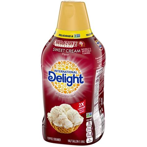 Some healthy of them contain sweeteners and flavors, such as hazelnut or vanilla. International Delight Coldstone Creamery Sweet Cream Flavor Coffee Creamer | Hy-Vee Aisles ...