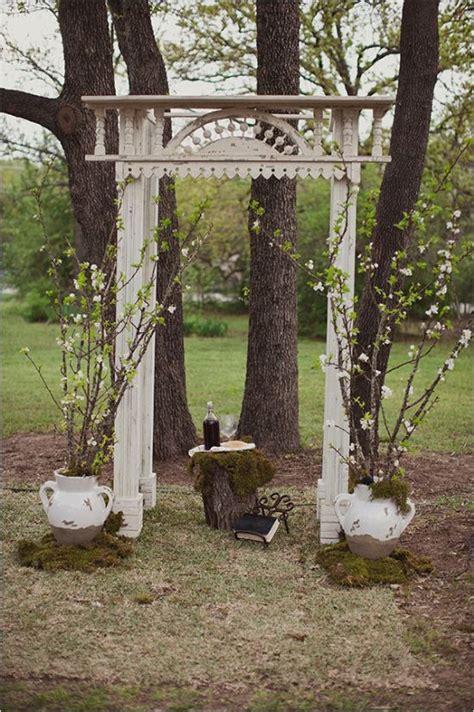 Vintage Wedding Arch Backdrop Deer Pearl Flowers