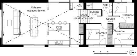 plan maison demi niveau 4 chambres plan maison avec demi sous sol ooreka