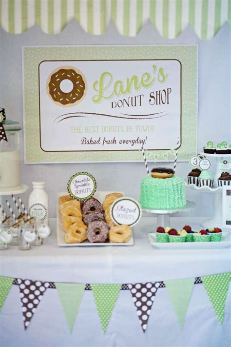 46 best donut party ideas images on 12 best images about retro donut themed party on