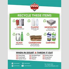 New Recycle Guidelines  Penn Waste
