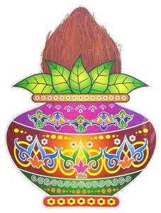 buy indian wedding decorations colorful sticker rangoli coconut on kalash print on paper