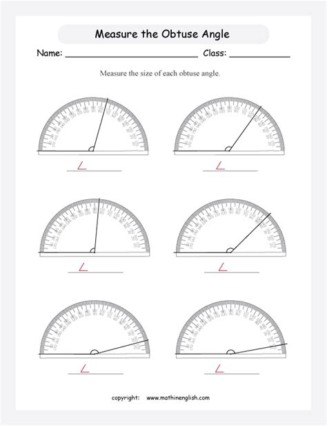 use the protractor and measure these obtuse angles great