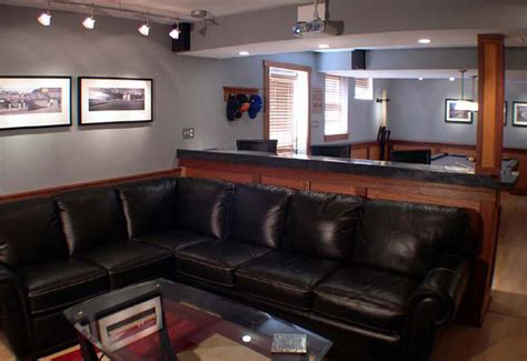 sophisticated man cave basement remodel chester springs