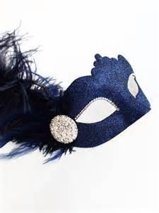 black masquerade masks for women luxury navy blue diamante venetian masquerade mask