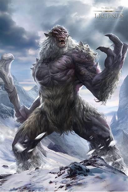 Fantasy Troll Skyrim Frost Elder Scrolls Concept