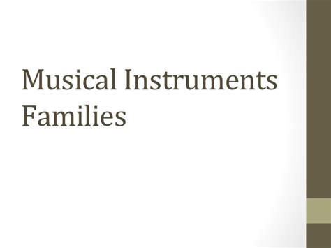 theory of powerpoint musical instruments families