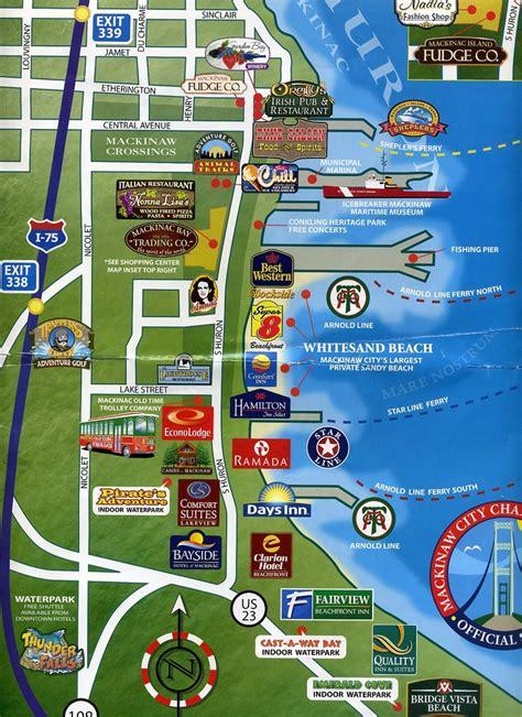 Hotels Mackinaw City Michigan Map