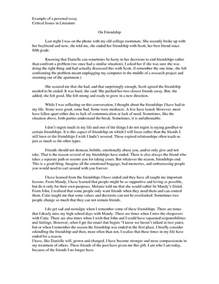 College Personal Essay Examples