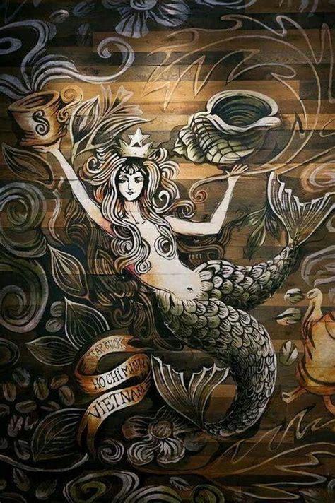 starbucks mermaid siren mermaids vietnam tattoo coffee ho sirens wall blend chi mural minh fantasy stairway anniversary opened feb uploaded