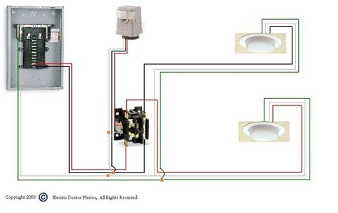 lighting contactor wiring diagram with photocell wiring