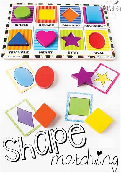 Matching Shape Shapes Puzzle Preschool Cards Activities