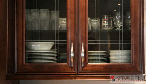 black kitchen cabinets with glass inserts interior