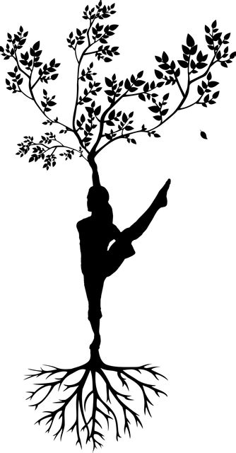 silhouette women tree  vector graphic  pixabay