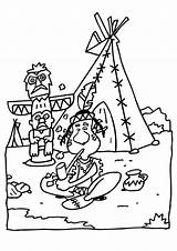 Teepee Coloring Indian Pages Printable sketch template