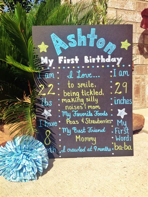 birthday posterboard  baby boy httpswwwetsycom