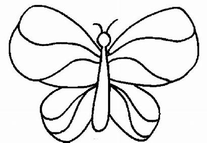 Coloring Easy Simple Pages Butterfly Colouring Printable