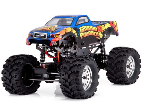 1/10 Redcat Ground Pounder Rc Monster Truck Blue 2.4ghz