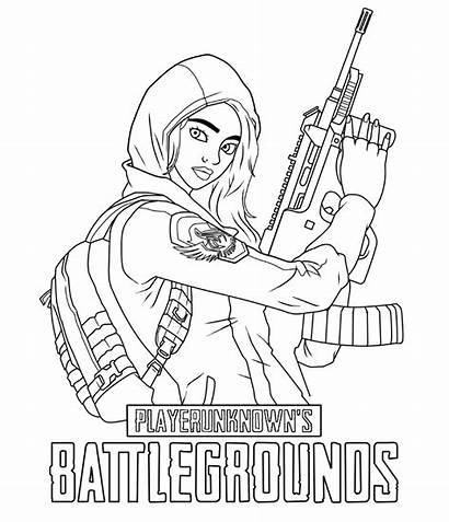 Coloring Pages Fortnite Printable Pubg Sheets
