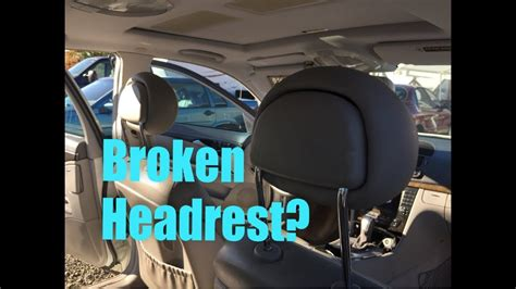 mercedes benz headrest fix youtube
