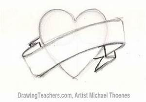 How to Draw a Heart with Banner