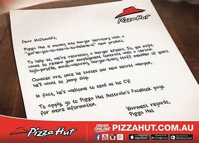 Pizza Hut Letter Launch Open Eyes Pizzahut