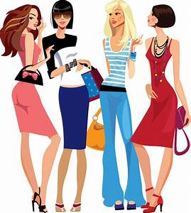 Fashion shopping girls clip art free vector download (215992 Free vector) for commercial use ...