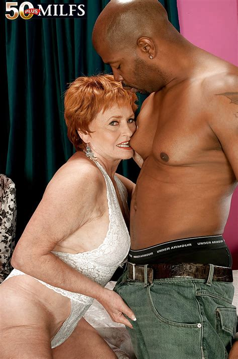 Redheaded Mature Mom Stripped From Sexy Leotard And Nailed