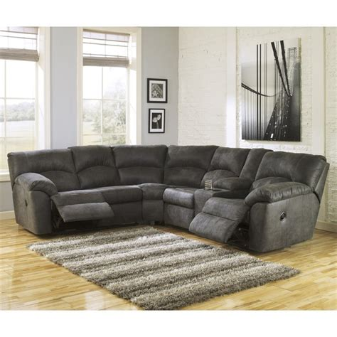 Sectional With Recliners by Signature Design By Furniture Tambo Fabric