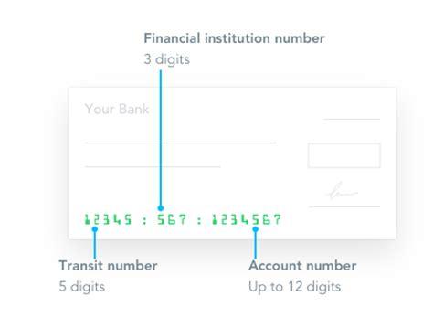 How Find Cad Institution Transit Number