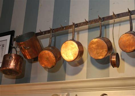 antique french butchers rack   antique copper