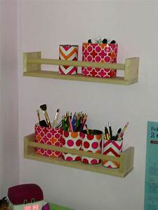 Geschenkpapier Organizer Ikea : ikea bekvam spice shelves with recycled cans covered in gift wrap repurposed for my daughters ~ Eleganceandgraceweddings.com Haus und Dekorationen