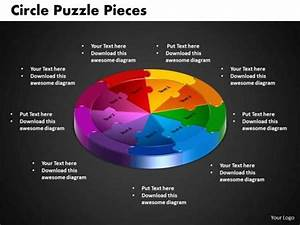 9 Stages Circle Puzzle Process Flow Chart