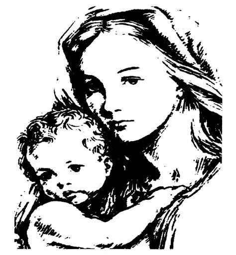 disegni madonna con bambino da colorare disegno da colorare madonna con bambino disegni da