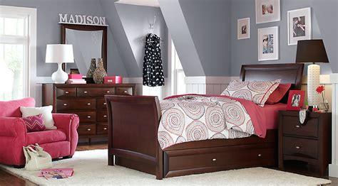 teen bedroom sets league cherry 6 pc sleigh bedroom teen bedroom