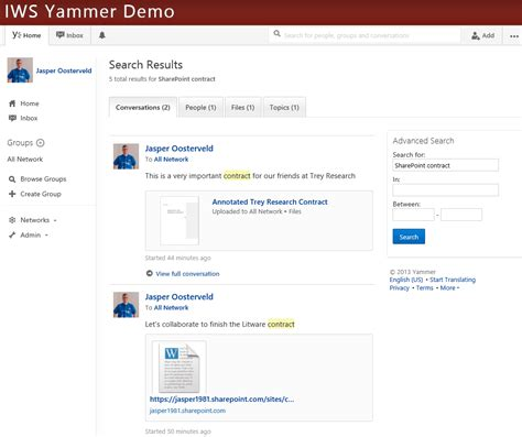 yammer and sharepoint extend sharepoint search results with yammer collab365 community
