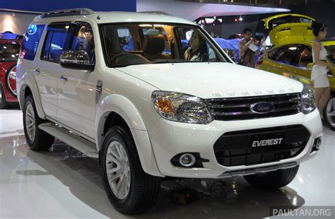 Latest Ford Everest Facelift Displayed At Iims 2018