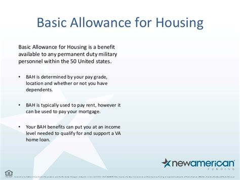 Basic Allowance For Housing by Home Loan Options For Veterans And Soldiers New American