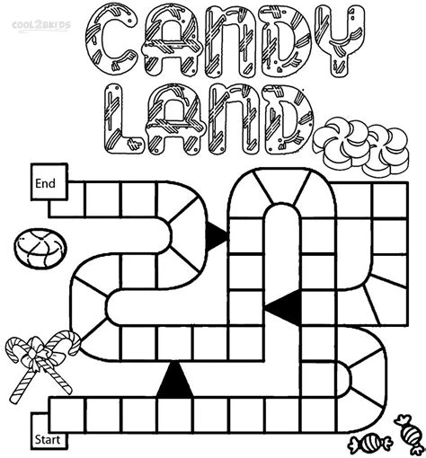 printable candyland coloring pages  kids coolbkids