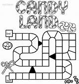 Candyland Coloring Pages Board Printable sketch template