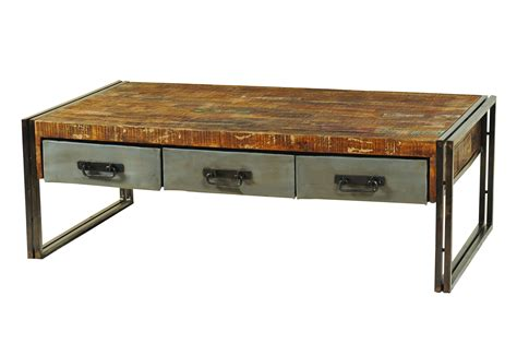 metal and wood desk with drawers moti furniture addison reclaimed wood and metal coffee