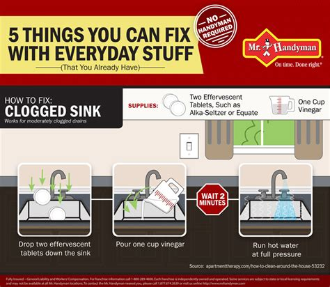 how to fix a clogged sink diy tips for your kitchen and bathrooms mr handyman