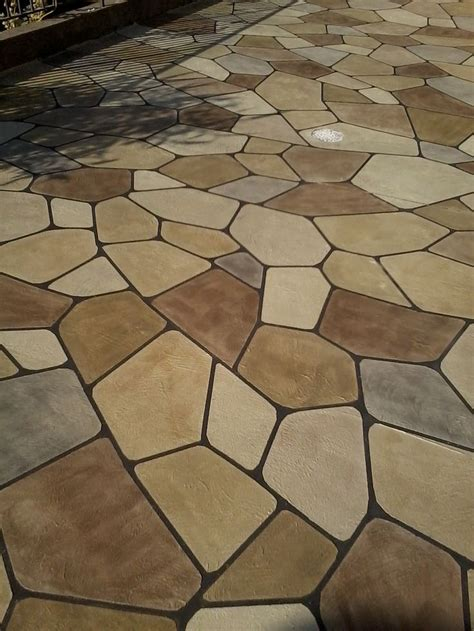 flagstone in concrete 12 best grand flagstone concrete makeover images on pinterest decorative concrete concrete