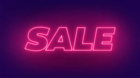 Neon Sale Glowing Text Sign Sale Banner Design 3d Render ...