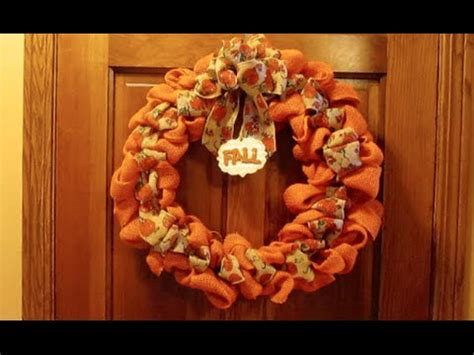 diy burlap wreath tips fall wreath tutorial youtube